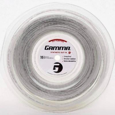 Gamma Sports 16g Synthetic Gut Tennis String